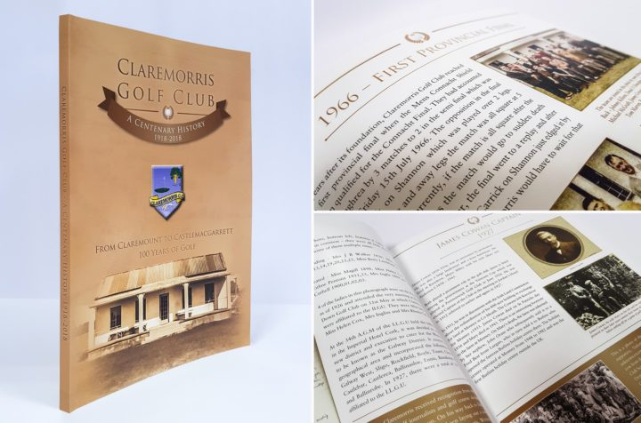 Book Design and Print for Claremorris Golf Club